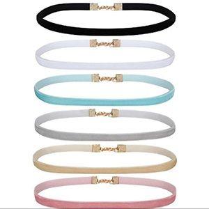 Vintage Choker Velvet Ribbon Collar Set 6PC